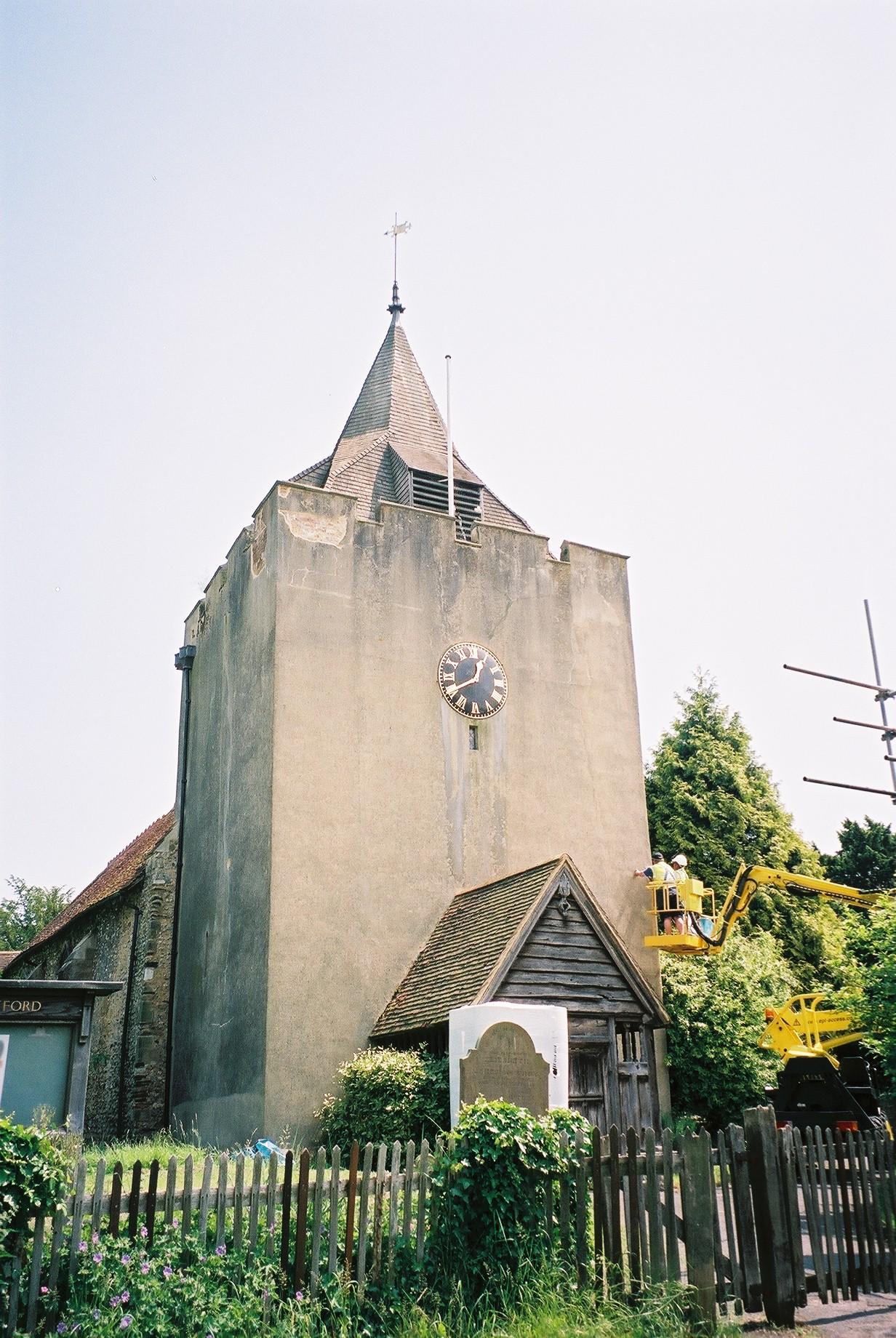 Otford Tower before repair