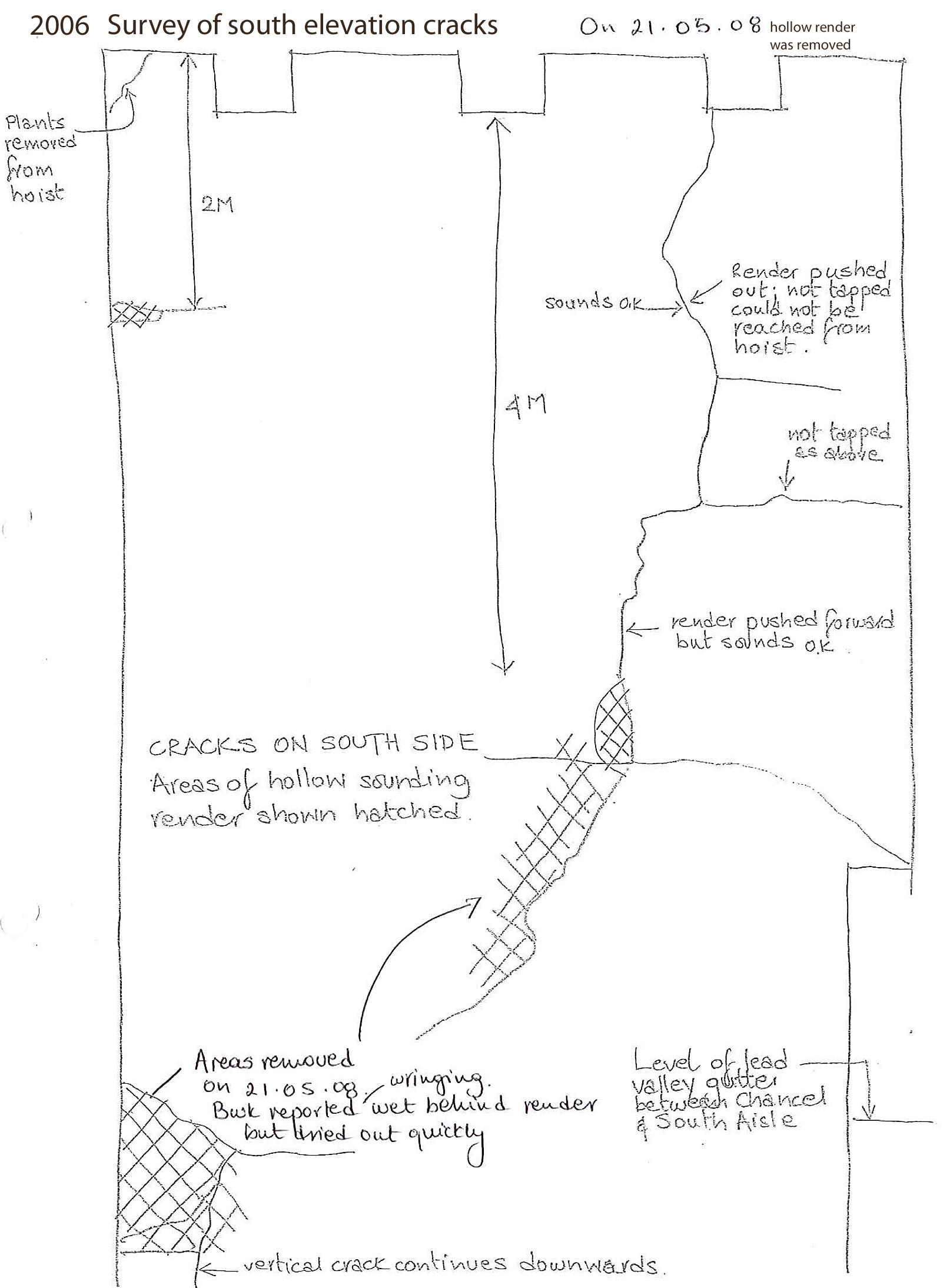 Otfrod Marked up survey sheet south