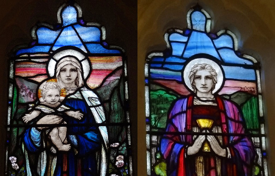 Detail from the Theodora Salusbury Window – Newdigate St Peter's Church